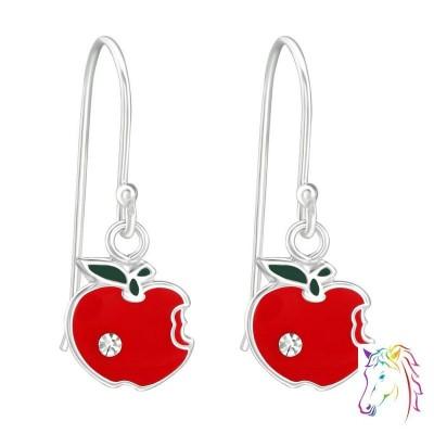 Piros alma, kővel akasztós fülbevaló - A4S38631