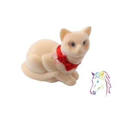 Krém cica bársony ékszerdoboz
