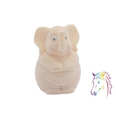 Krém elefánt bársony ékszerdoboz