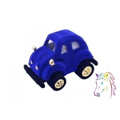 Kék autó bársony ékszerdoboz