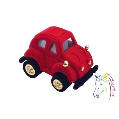 Piros autó bársony ékszerdoboz