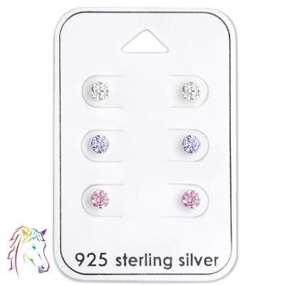 Stift köves fülbevaló ezüst ékszer szett - A4S28453