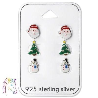 Karácsonyi, mikulás, téli gyerek fülbevaló szett - A4S28469