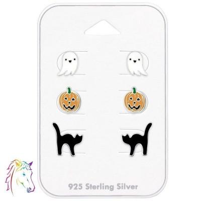 Halloweeni stift fülbevaló ezüst ékszer szett - A4S39267