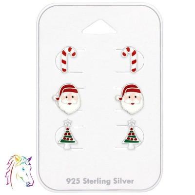 Karácsonyi stift fülbevalók ezüst ékszer szett - A4S39707
