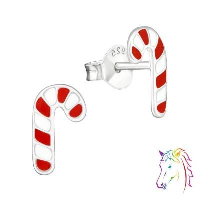 Karácsonyi nyalóka ezüst színes fülbevaló - A4S990