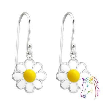 Kamilla virágos ezüst akasztós fülbevaló - A4S15590
