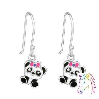 Panda akasztós ezüst gyerek fülbevaló - A4S39153