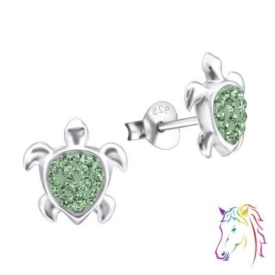 La Crystale teknős ezüst kristály fülbevaló - A4S24687