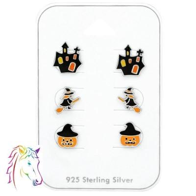 Halloweeni ezüst ékszerszett - A4S38716