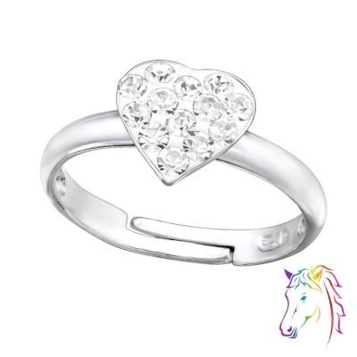 Kristály szíves gyerek gyűrű - A4S30624