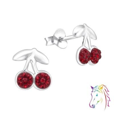 Meggy gyümölcs La Crystale kristály stift fülbevaló - A4S24690