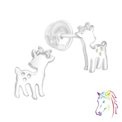 Őz prémium stift fülbevaló - A4S40101