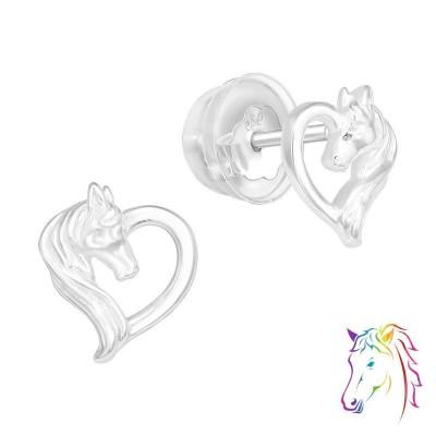 Lovas szíves prémium stift fülbevaló - A4S40375