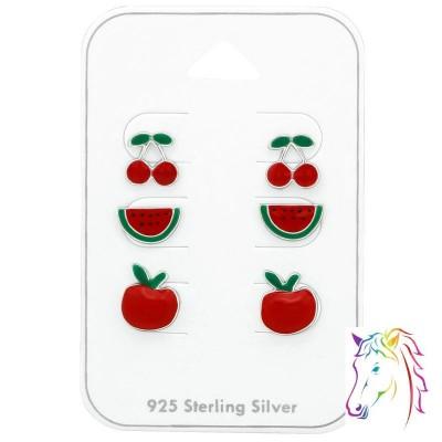 Piros gyümölcsös ajándék ékszer szett - A4S38714