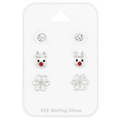 Karácsonyi ezüst fülbevaló csomag - A4S41483