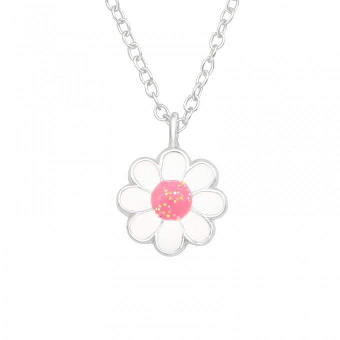 Virág medálos ezüst gyerek nyaklánc - A4S42540
