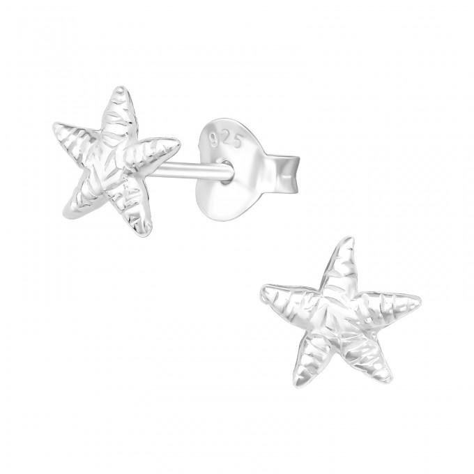 Tengeri csillag stift ezüst gyerek fülbevaló - A4S9510