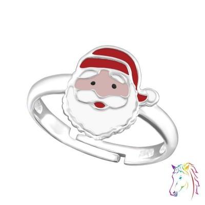 Mikulás fejes állítható 925 ezüst gyermek gyűrű - A4S20179
