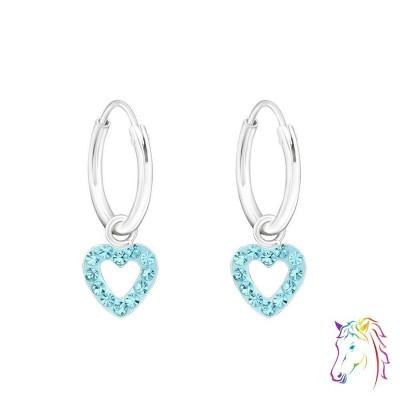 Szív kristályos karika fülbevaló - A4S21937