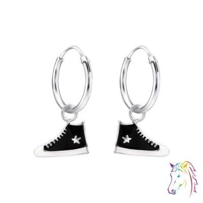 Csillagos sportcipó, magasszárú cipős karika fülbevaló - A4S28028