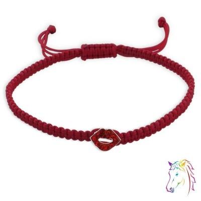 Zsinóros szíves gyermek karkötő - A4S17090