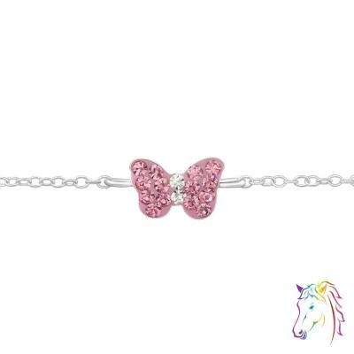 Pillangó medálos 925 ezüst gyermek karkötő - A4S18568