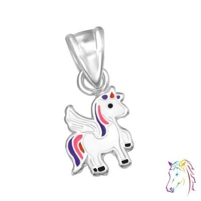 Egyszarvús ezüst medál gyermek nyaklánchoz - A4S30985