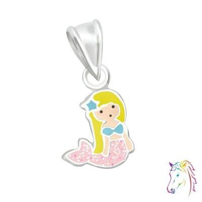 Sellő ezüst medál gyermek nyaklánchoz - A4S36924