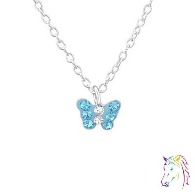 La Crystale kristályos kék pillangós nyaklánc - A4S37645
