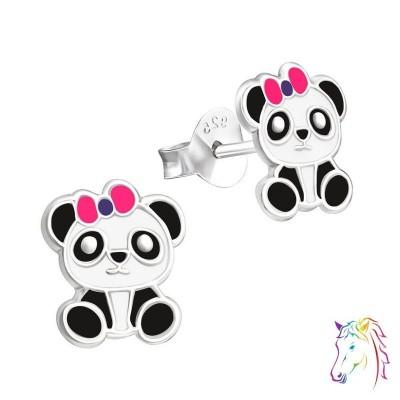 Panda maci színes fülbevaló - A4S19638