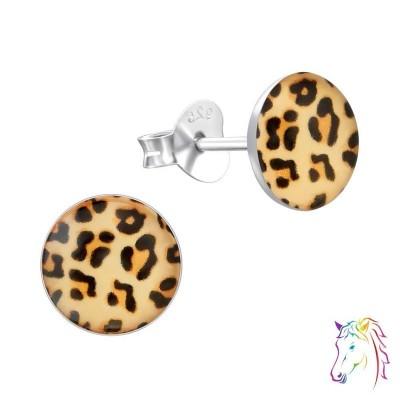 Leopárdmintás kör színes fülbevaló - A4S19688