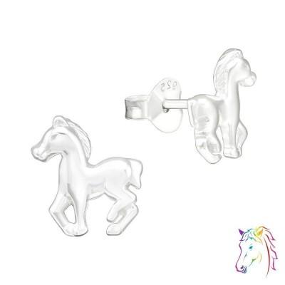 Ló stift ezüst gyermek fülbevaló - A4S20559