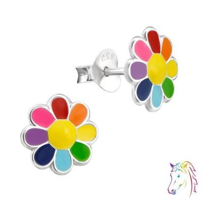 Többszínű margaréta színes fülbevaló - A4S20765