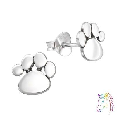 Kutya mancs stift ezüst gyermek fülbevaló - A4S21170