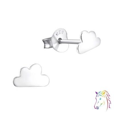 Felhő stift ezüst gyermek fülbevaló - A4S21412