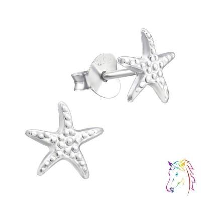 Tengeri csillagos stift ezüst gyermek fülbevaló - A4S21414