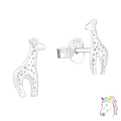 Zsiráfos stift ezüst gyermek fülbevaló - A4S23053
