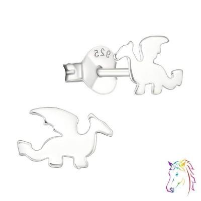 Sárkány stift ezüst gyermek fülbevaló - A4S23061