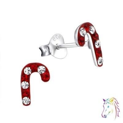 Nyalóka kristály ezüst fülbevaló - A4S24319