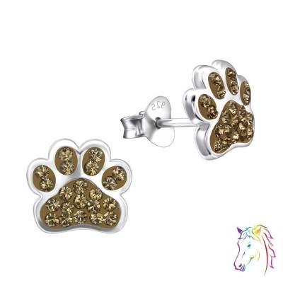 La Crystale kristályos kutya tappancs fülbevaló - A4S24689