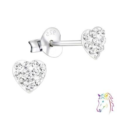 La Crystale kristályos szíves fülbevaló - A4S24692
