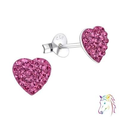 La Crystale kristályos pink szíves fülbevaló - A4S24693