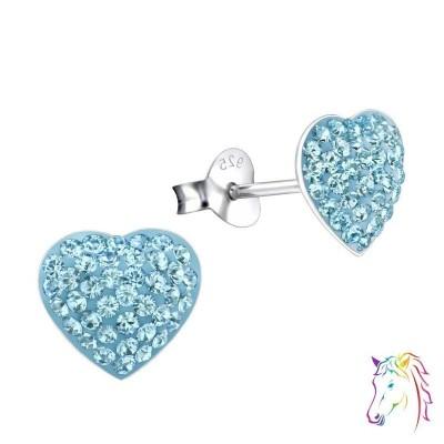 La Crystale kristályos kék szív fülbevaló - A4S24694