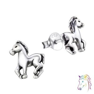 Ló oxidált stift ezüst gyermek fülbevaló - A4S26814