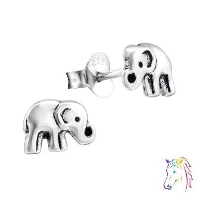 Elefánt oxidált stift ezüst gyermek fülbevaló - A4S28245