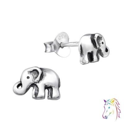 Elefánt oxidált stift ezüst gyermek fülbevaló - A4S29094