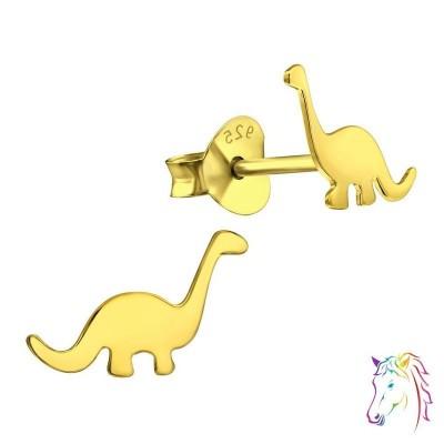 18k aranyozott Brontoszaurusz dinoszaurusz stift ezüst gyermek fülbevaló - A4S31803
