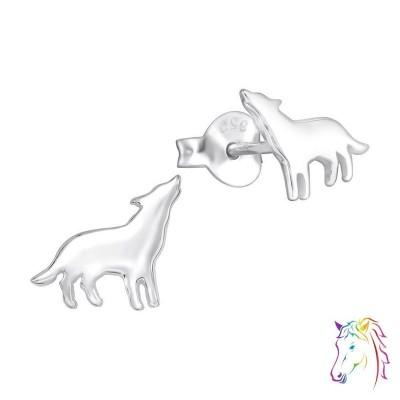 Farkas stift ezüst gyermek fülbevaló - A4S34573