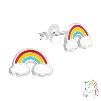 Szivárvány felhőkkel színes fülbevaló - A4S37570